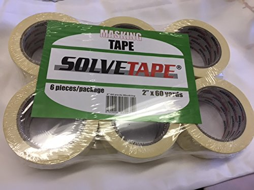 General Purpose Masking Tape (6 Rolls( 60 yards, 2 inch wide))