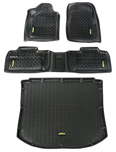 Outland 391298826 Black Front, Rear and Cargo Floor Liner Kit For Select Jeep Grand Cherokee Models