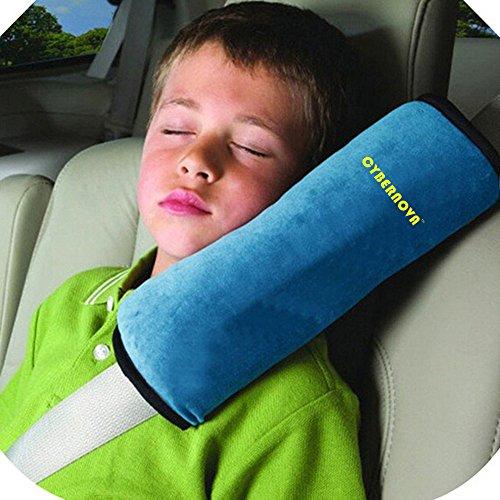 CYBERNOVA Siège enfant Kid véhicules de ceinture harnais d'épaule Pad Support couverture Coussin de tête (bleu)