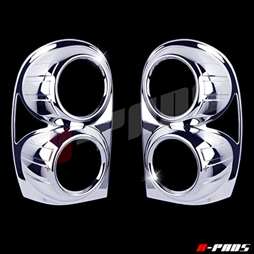 - A-PADS Chrome Tail Light Covers for Jeep LIBERTY 2002-2007 - Taillight Lights PAIR