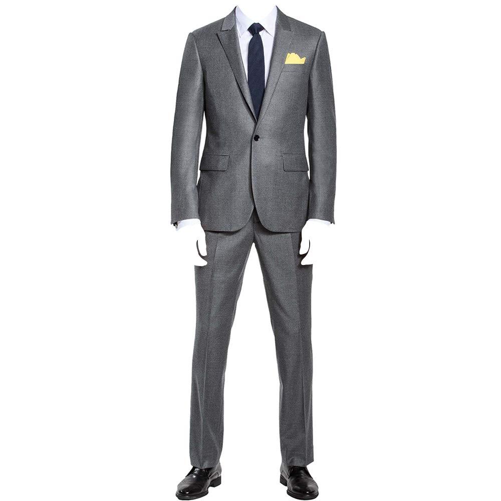 HBDesign Men's 2 piece 1 Button Peak Lapel Slim Trim Fit Party Suit HMS50233SI