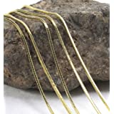 Simple Stylish Women Mens 18K Yellow Gold Plated Snake Chain Necklace 18-22 (18)