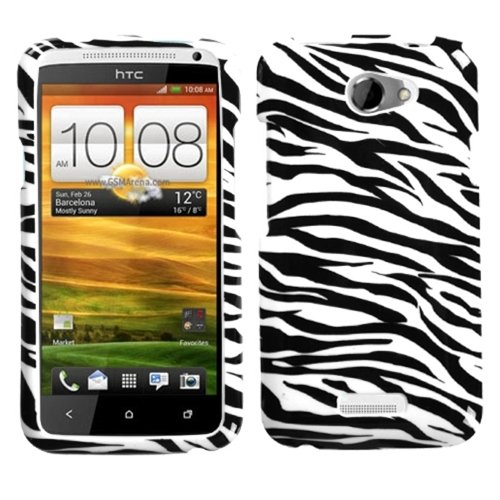 (Zebra Skin Faceplate Protector Case Phone Cover For AT&T HTC One X )