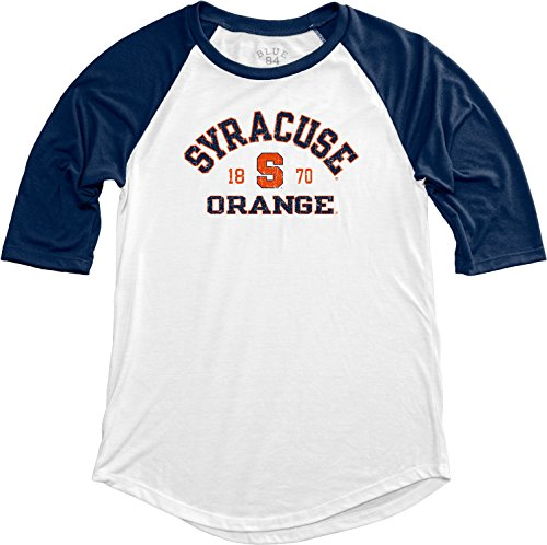 (NCAA Syracuse Orange Adult Women NCAA Women's Teagan Baseball Tee,Medium,Navy)