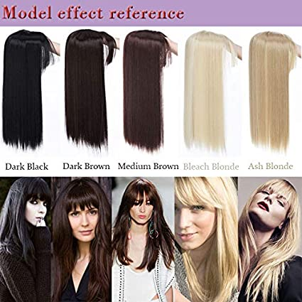 Amazon Com 43cm 3clip In Hair Heat Resistant Fake Hairpieces Long