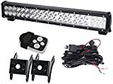 Spead-Vmall 20Inch Spot Flood Combo Led Light Bar On Front Rear Bumper Brush Bull Bar Grille Trails For Land Rover Defender Lawn Mower Mazda Toyata Tacoma Kubota Rtv Gravely F150 Polaris Ranger Xterra