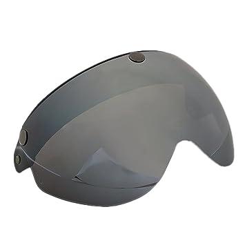 MagiDeal Visera de Casco de Motocicleta de 3/4 Cara 3 Snap Pieza de Protección