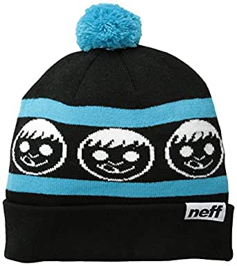 neff Men's Standard Skull Cap, Black/Cyan, One Size
