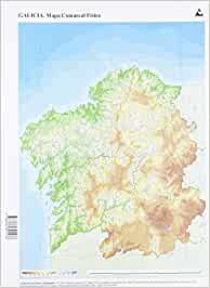 Mapa físico Galicia Comarcal (Mapas mudos): Amazon.es: Edicións do Cumio: Libros