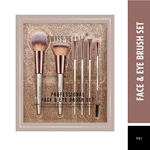 Swiss Beauty Professional Face & Eye Brush Set best price deals offers