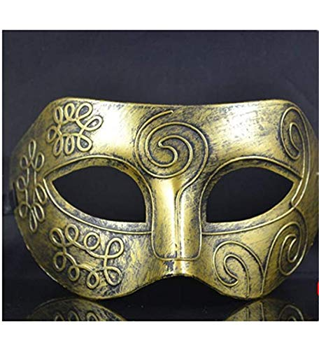 Half Face Mask Plastic Kamen Cool Fighter Masquerade for Halloween/Ball Party/Cosplay(Gold)]()