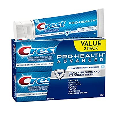 Crest Pro-Health Advanced Extra Whitening Power Plus Freshness Toothpaste Twinpack, (3.5 Oz x 2Pc)