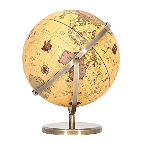Desktop Globe, World Globes for Kids,Educational Swivel Globe- Unique Embossment Design, Arty, Educational and Fun, for School, Children by FAY