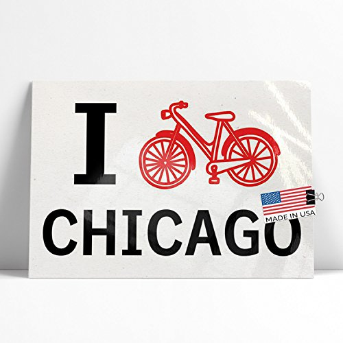 NEONBLOND Large Poster I Love Cycling City Chicago Printed in Atlanta