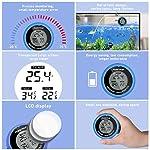 POPETPOP LCD Digital Aquarium Thermometer High Precision Digital Fish Tank Thermometer for Aquarium/Pond/Reptile Turtles Habitats (Blue) 13
