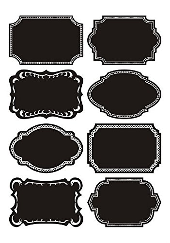 Order Free Gift Stickers - Duofire Fancy Vinyl Chalkboard Labels/chalkboard Stickers with 2 Free Gifts Chalk Markers and Microfiber Cloth, Set of 72