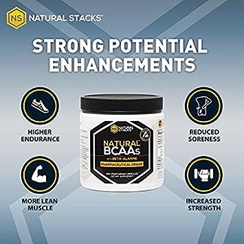 Natural Stacks BCAA con Beta-alanina: 2:1:1 grado ...