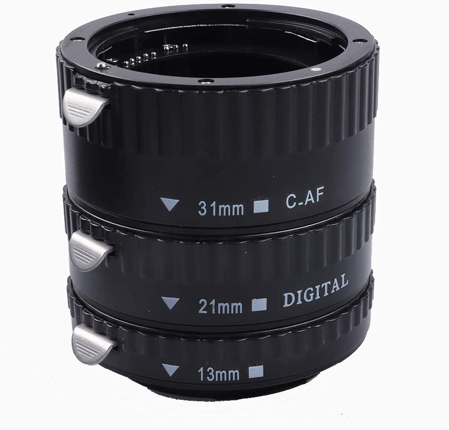 RONSHIN Metal Mount Lens Adapter Auto Focus AF Macro Extension Tube Ring for Canon EOS EF-S Lens 750D 80D 7D T6s 60D 7D 550D 5D Mark IV Gold