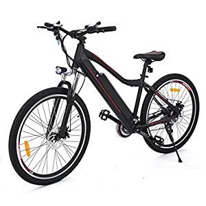 New IN 2018 Electric FAST Big Speed Mountain E bike with Large Lithium Ion Battery for Adults [US STOCK]