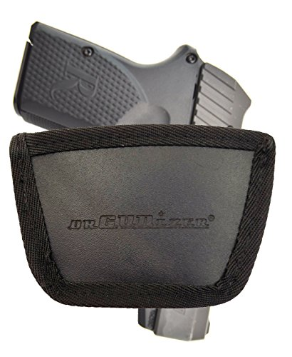 - Garrison Grip Leather Inside and Outside Waistband Easy Slide Holster Fits Remington 380 w/or w/o Laser (SLH) Black