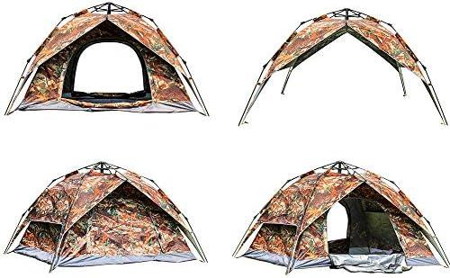 ZYQDRZ Tragbares Ahornblatt-tarnzelt, Vollautomatisches Doppelfamilien-campingzelt, Einfache Einstellung, Automatisches Kuppelzelt Für 3-4 Personen
