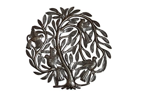 Leaving the Nest Garden Tree of Life, Artistic Haitian Metal Art, Steel Drum, Outdoor, Indoor Decor 15