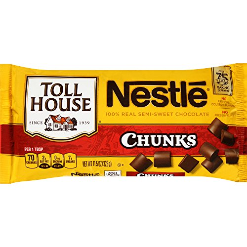 NESTLE TOLL HOUSE Semi-Sweet Chocolate Chunks 11.5 oz. (Semi Sweet Chocolate Chunks)