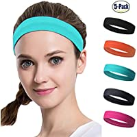 Set of 5 Women's Yoga Sport Athletic Headband For Running...