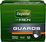 Kimberly Clark Depend Guard for Men 12'' L, Adhesive Strips, Maximum Absorbency (Box of 52 Each)