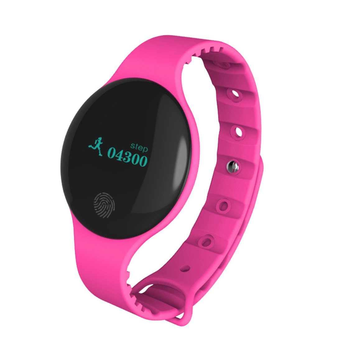HDWY Smart Bracelet With Color Screen Step Counter Calorie Sleep Monitor Distance Sport Watch Walking Running App For Woman And Man (Buy One Get One Free) (Color : Red)
