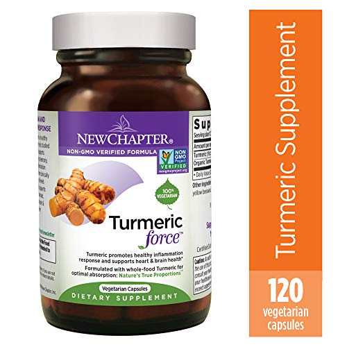 Turmeric Curcumin Supplement, New Chapter Turmeric Supplement, One Daily, Joint Pain Relief + Supercritical Organic Turmeric, Black Pepper Not Needed, Non-GMO, Gluten Free - 120 Count (4 Month Supply)
