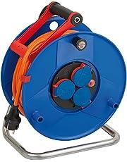 Brennenstuhl Garant Kabelhaspel, IP44, 40 m kabel, oranje, speciaal kunststof, gebruik buitenshuis, Made in Germany