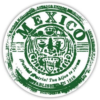 Mexico retro seal sticker decal 4 x 4