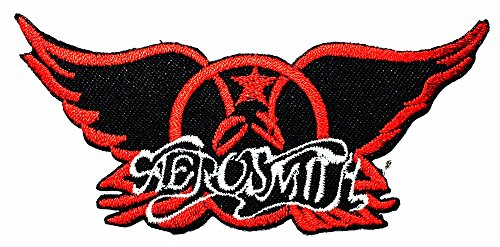 Aerosmith Costumes (Aerosmith Punk Rock Heavy Metal Music logo Patch Sew Iron on Logo Embroidered Badge Sign Emblem Costume BY Dreamhigh_skyland)