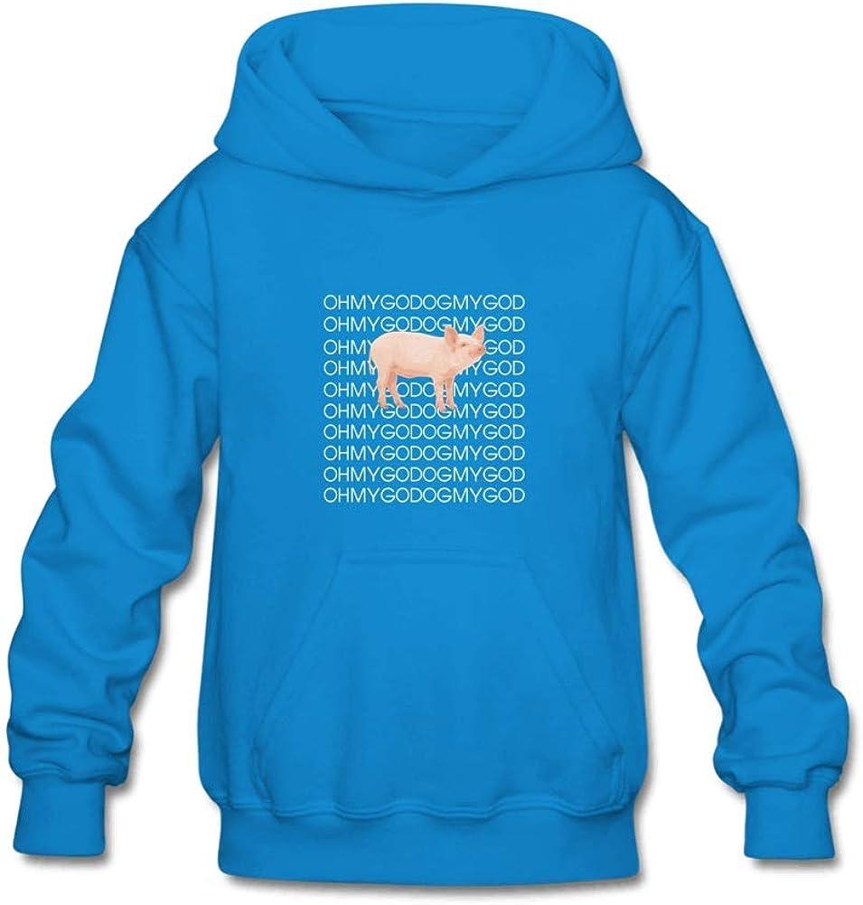 Unisex Kids Shane Dawson Oh My God Pig Sweatshirt for 10-15yrs Boys and Girls