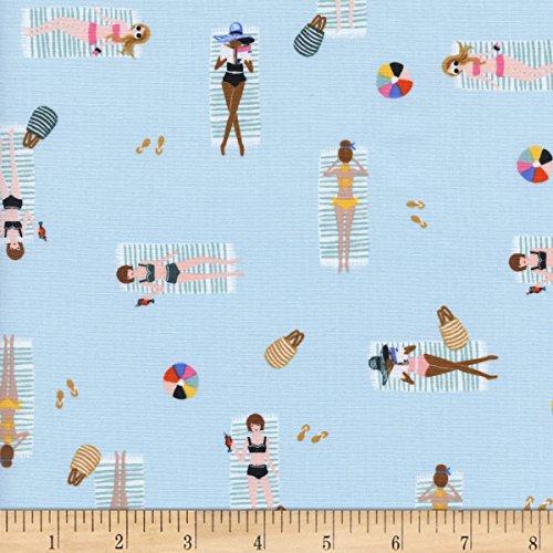 Cotton + Steel Rifle Paper Co Amalfi Sun Girls Sky Fabric by The Yard