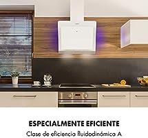 KLARSTEIN Aurora Eco - Campana extractora, 550 m³/h, Bajo Consumo, Eco Excellence, Display LED, Balanced Light Concept , 3 Niveles, Diseño Compacto, Clase fluidodinámica A++, Blanco: Amazon.es: Hogar