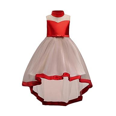 Minshao Baby Bow Kleider Mädchen Prinzessin Brautjungfer Festzug ...