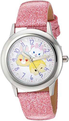Disney Girl's 'Tsum' Quartz Stainless Steel Casual Watch, Color:Pink (Model: WDS000121)