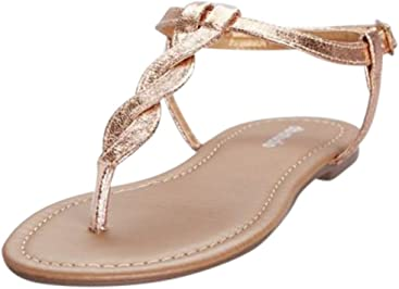 Davids Bridal Twisted T-Strap Sandals Style Kendall