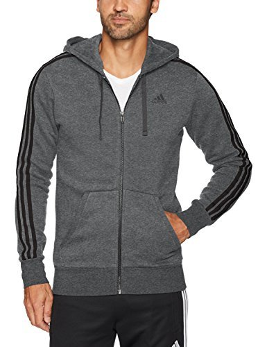 Hoodie Fleece Pants (adidas Men's Essentials 3-Stripe Full Zip Fleece Hoodie, Collegiate Navy/White, Large)