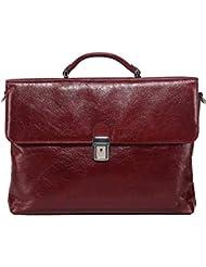 Banuce Genuine Leather Briefcase for Women Slim Work Tote Handbag Messenger 13 inch Laptop Bag Tablet Sleeve