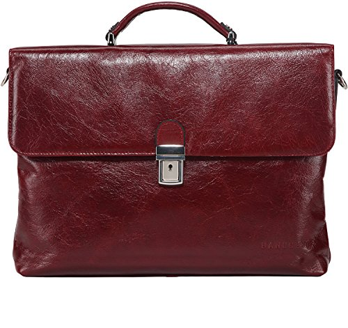 Slim Attache - Banuce Women Leather Business Tote Laptop Bag Messenger Computer Briefcase for 13 inch MacBook Pro / Notebook / ASUS / Acer / HP / Dell Alienware / Lenovo