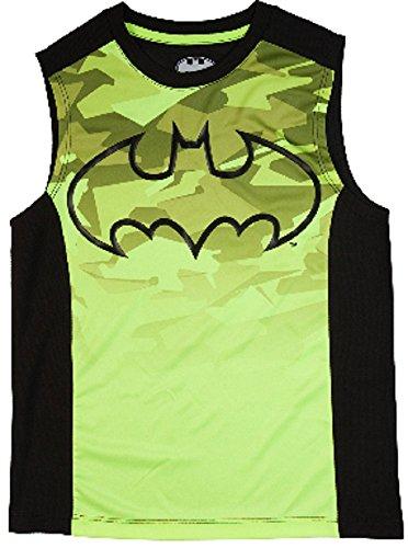 Batman Boys Acid Yellow & Black Muscle Tank (X-Large 14/16)