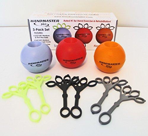 DOCZAC HANDMASTER PLUS EXERCISE HAND BALL Exercise Ball, 3 Pack by Doczac Enterprises, Inc.