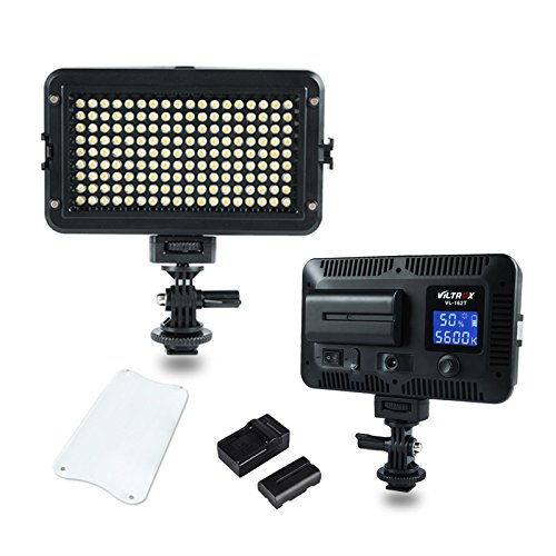 VILTROX LED light 12w portable on-Camera LED Video Studio Light 3300K-5600K Bi-Color Dimmable brightness,with NP-F550 battery and charger by VILTROX