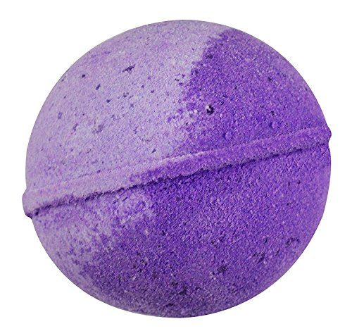 Sense Sation Lavender Bath Bomb USA Handmade Ultra Lush Spa Bath Fizzies 4.5 oz. Organic Essential Oil, Fizzy & Colorful, Aromatherapy & Moisturizing, Vegan & Gluten Free Gift Idea