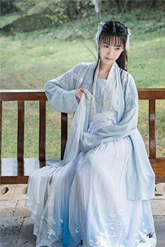 Generic Heavy embroidered Chinese clothing Chinese wind classical retro ladies temperament waist-breasted jacket skirt suit literary fairy for women girl by Generic (Image #9)