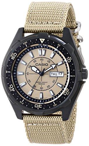Casio Men's AMW110-9AV Classic Analog Tan Nylon Strap Watch by Casio