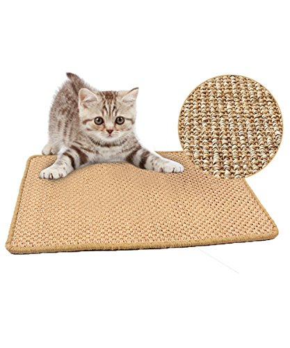 Sisal Mats (Sisal Cat Scratching Mat, Loveone(TM) Scratch Play Pad, Cork Tweed Furniture Carpet Natural Insipidity for Kitty/ Kitten/ Pussy (Brown, 23.6